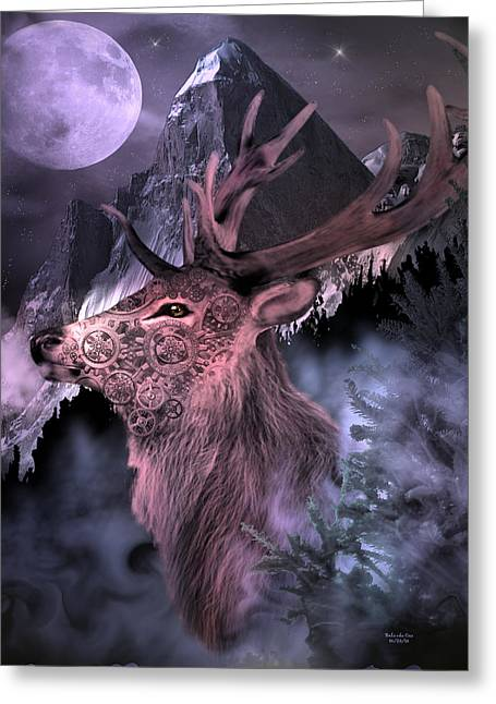 Moonlight Buck Greeting Card