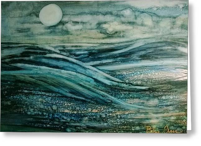 Moonlit Storm Greeting Card