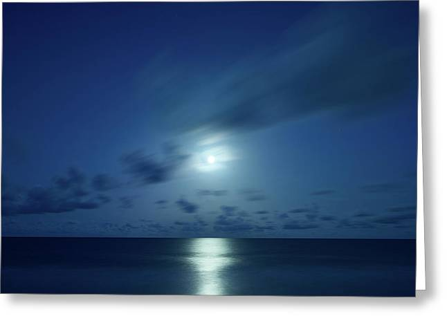 Moonrise Over The Sea Greeting Card