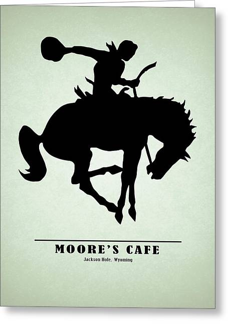 Moores Cafe Wyoming 1946 Greeting Card