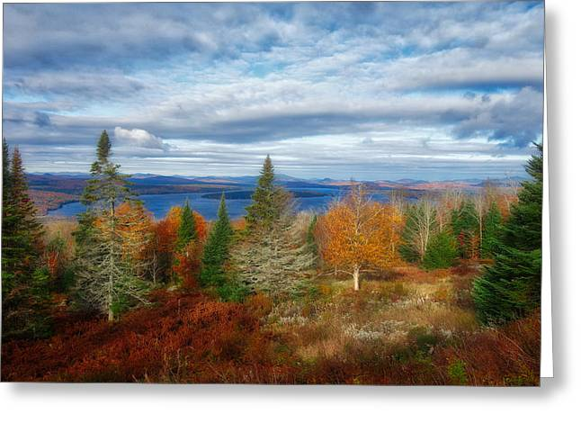 Mooselookmeguntic Lake Fall Colors Greeting Card