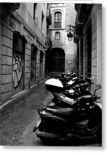 Greeting Card featuring the photograph Moped by Edward Lee