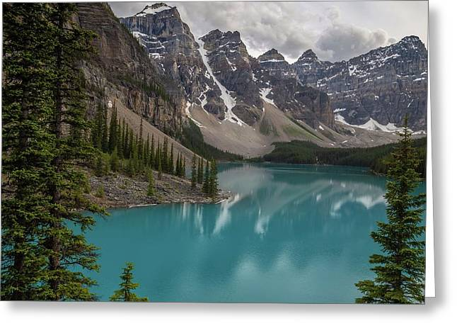 Greeting Card featuring the photograph Moraine Lake by Paul Schultz
