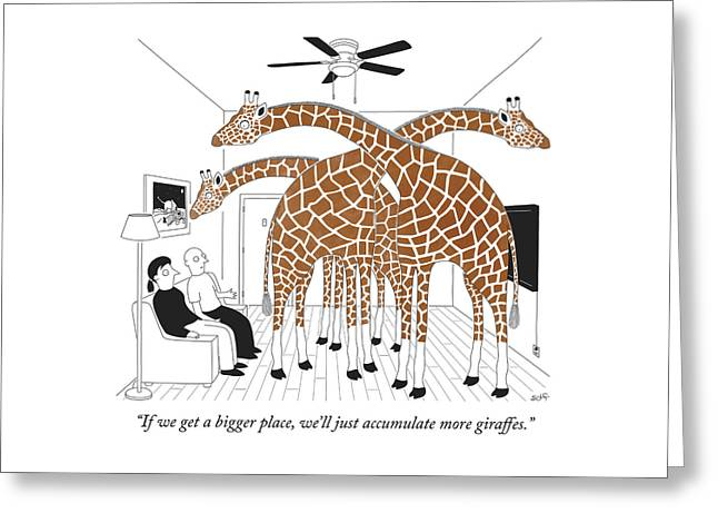More Giraffes Greeting Card