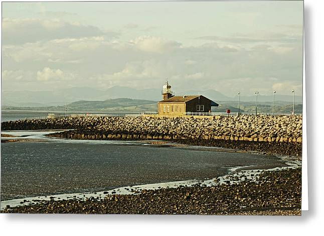 Morecambe. The Stone Jetty. Greeting Card