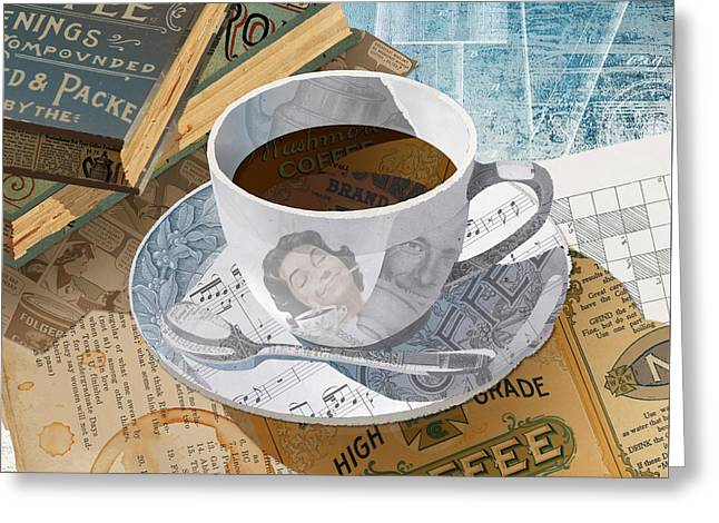 Greeting Card featuring the mixed media Morning Coffee by Clint Hansen