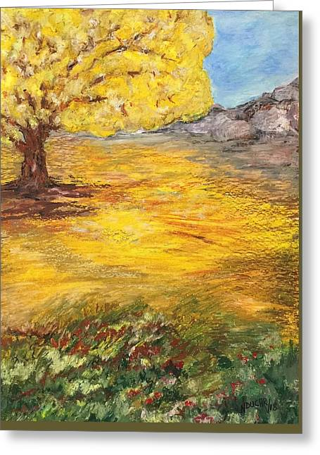 Greeting Card featuring the painting Morning Glory by Norma Duch