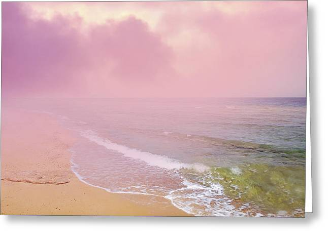 Morning Hour By The Seashore In Dreamland Greeting Card