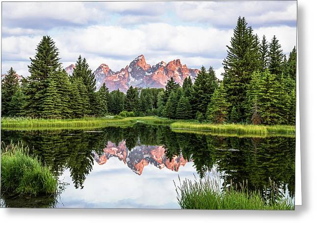 Morning In The Tetons Greeting Card