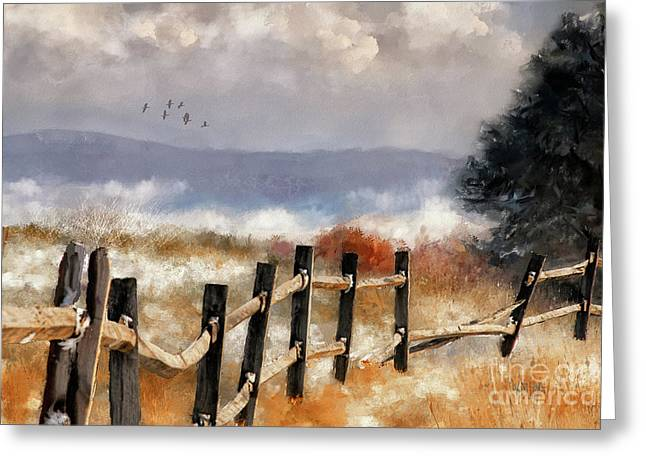 Morning Mists In The Mountains Greeting Card