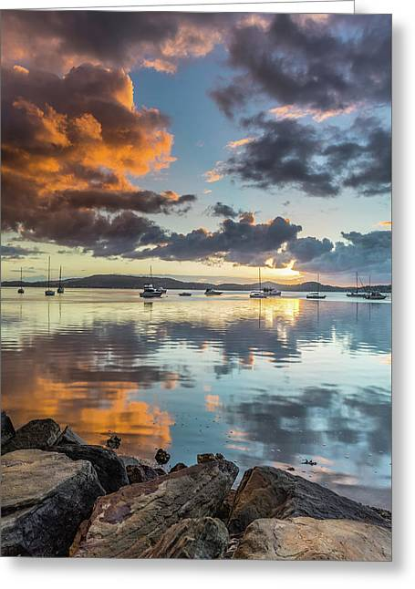 Morning Reflections Waterscape Greeting Card