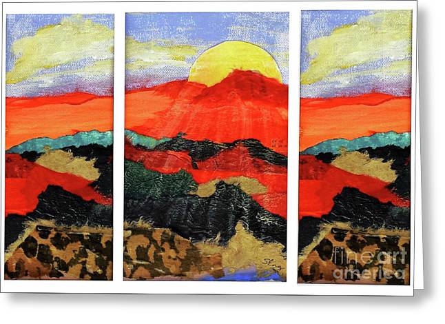 Morning's Promise Triptych Greeting Card