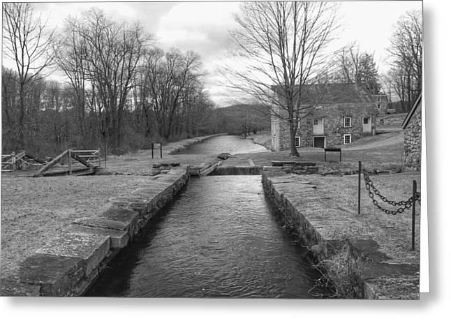 Morris Canal And Lock - Waterloo Village Greeting Card