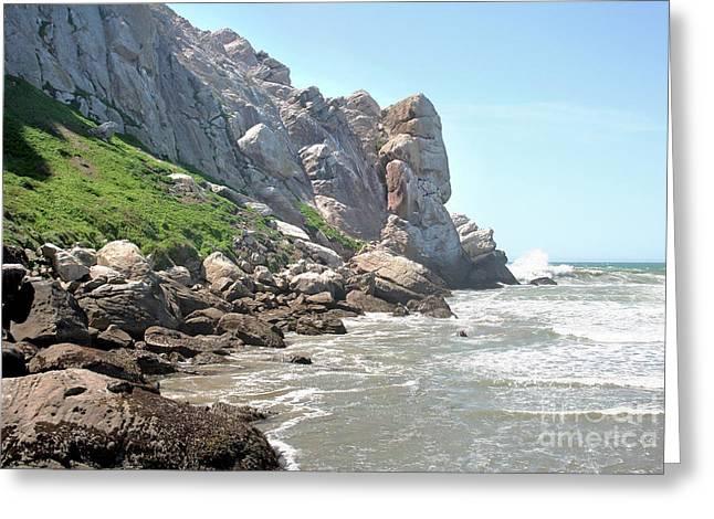 Morro Rock And Ocean Greeting Card