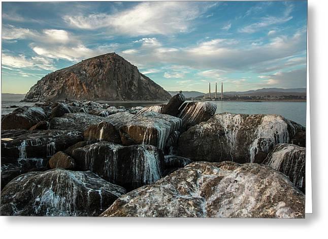 Morro Rock Breakwater Greeting Card