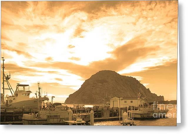 Morro Rock Sky Greeting Card