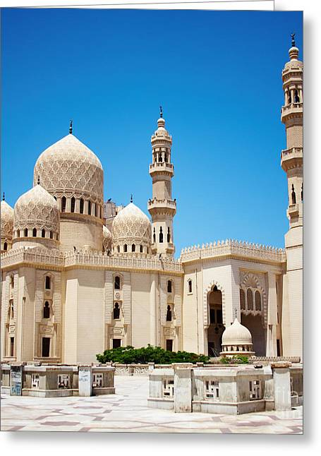 Mosque Of Abu Abbas Al Mursi In Greeting Card