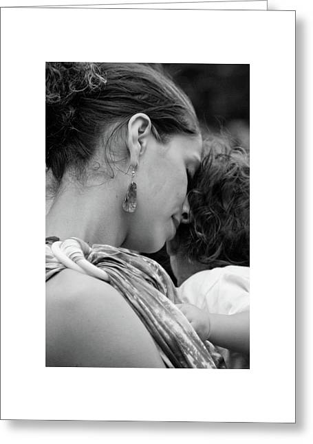 Greeting Card featuring the photograph Mother And Child by Catherine Sobredo