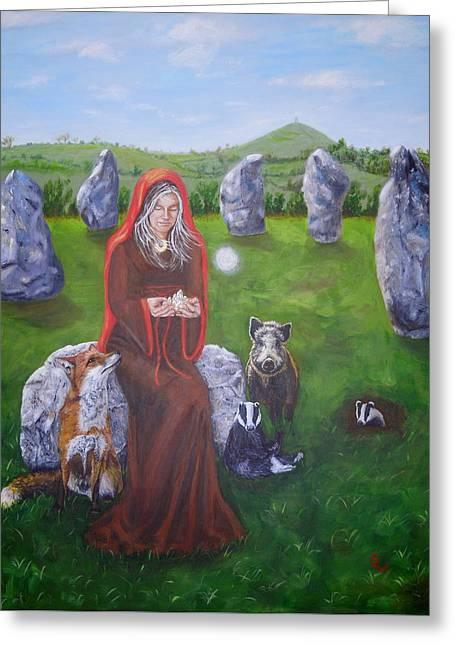 Mother Of Earth Goddess Brigantia Greeting Card