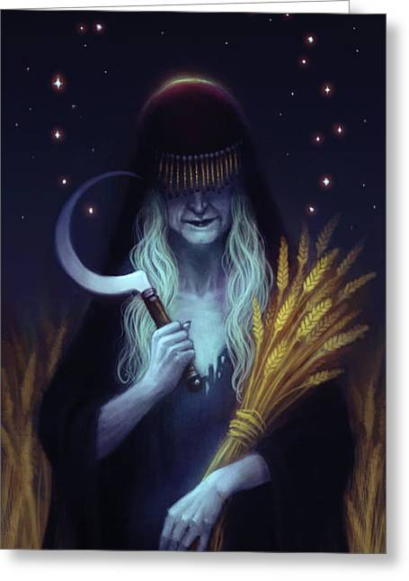 Mother Saturn Greeting Card