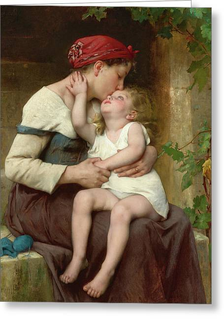 Mother With Child, 19th Century Greeting Card