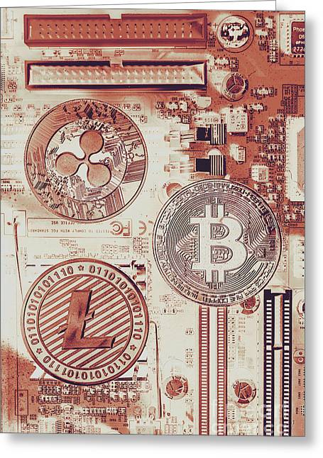 Motherboard Money Greeting Card