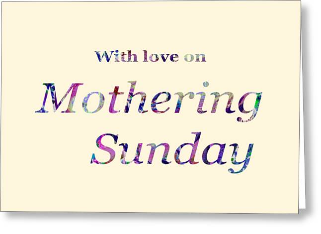 Mothering Sunday 2019 Greeting Card