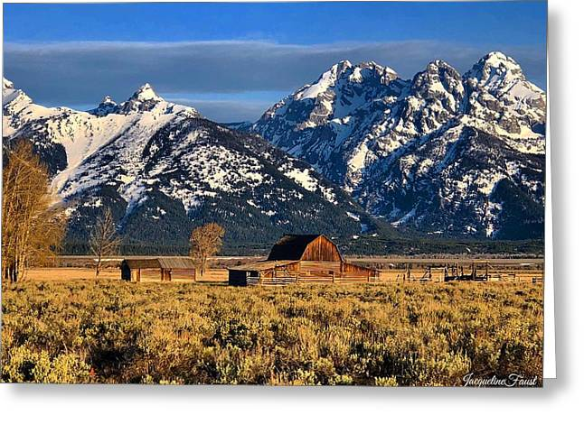 Moulton Barn Grand Tetons Greeting Card