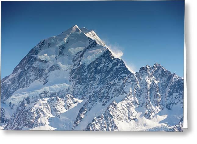 Mount Cook Aoraki Summit Ridge Greeting Card