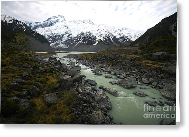 Mount Cook, New Zealand Greeting Card