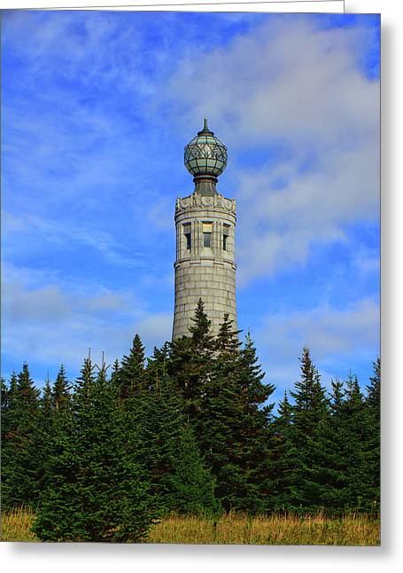 Greeting Card featuring the photograph Mount Greylock Tower From Bascom Lodge by Raymond Salani III
