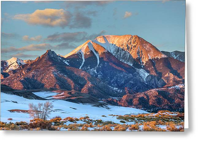 Mount Herard, Great Sand Dunes National Greeting Card