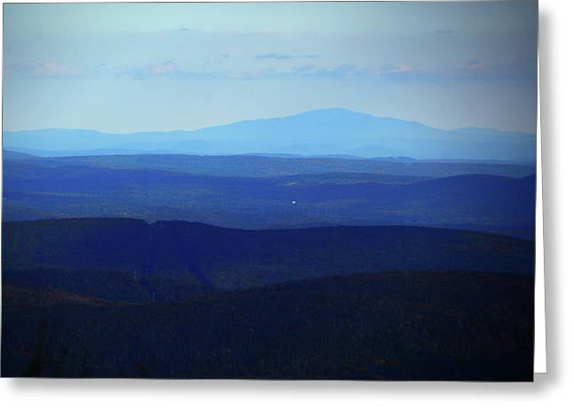 Greeting Card featuring the photograph Mount Monadnock From Mount Greylock by Raymond Salani III