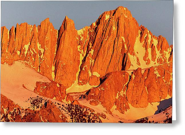 Mount Whitney Sunrise Greeting Card