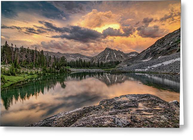 Mountain Beauty Greeting Card by Leland D Howard