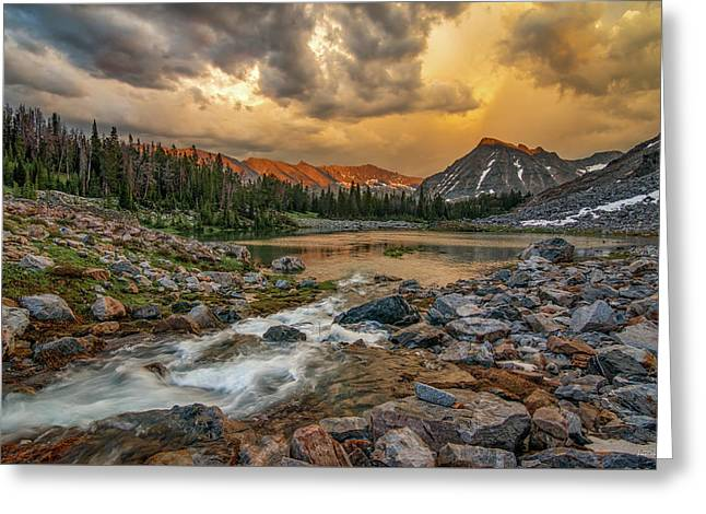 Mountain Glow Greeting Card by Leland D Howard