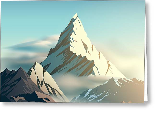 Mountain Illustration Greeting Card