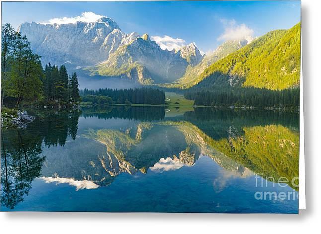 Mountain Lake,laghi Di Fusine,italian Greeting Card