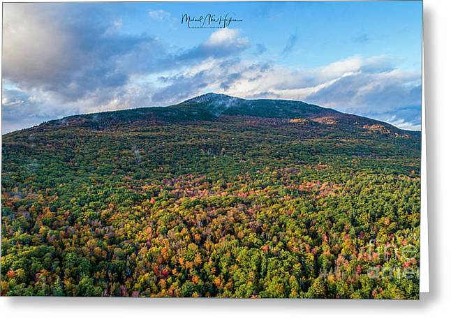 Greeting Card featuring the photograph Mountain That Stands Alone by Michael Hughes