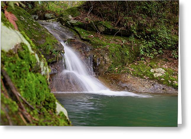 Mountain Waterfall II Greeting Card