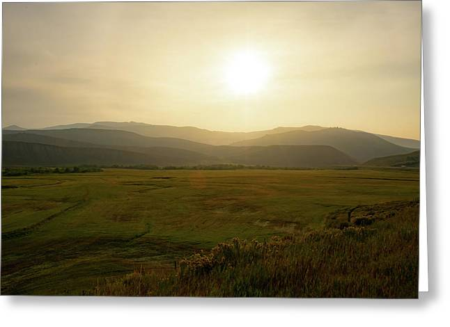 Mountains At Dawn Greeting Card