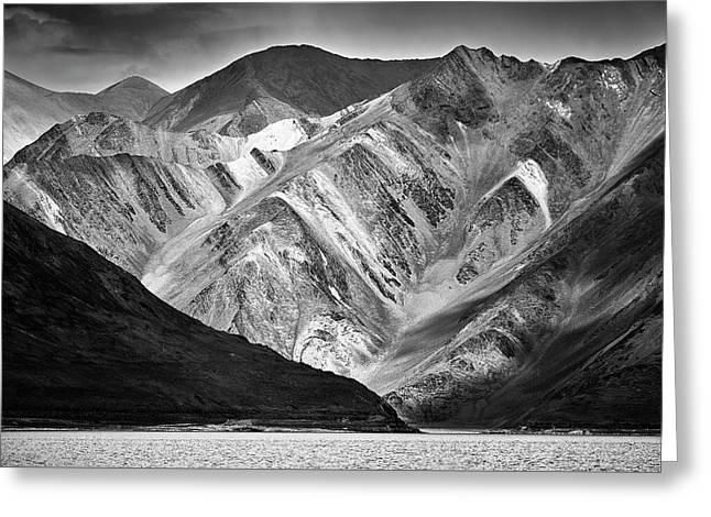 Mountains At Pangong Greeting Card