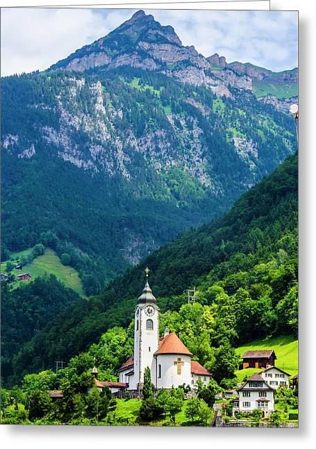Mountainside Church Greeting Card