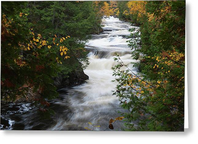 Greeting Card featuring the photograph Moxie Stream by Rick Hartigan