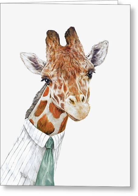 Mr Giraffe Greeting Card