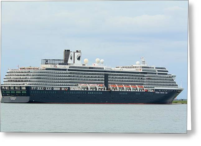 Greeting Card featuring the photograph Ms Zuiderdam At Port Canaveral by Bradford Martin