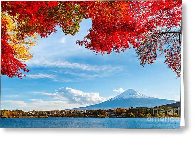 Mt. Fuji In Autumn Greeting Card