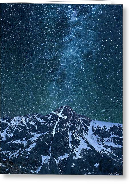 Mt. Of The Holy Cross Milky Way Greeting Card