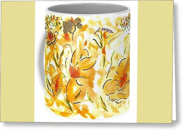 Mugs By Cori Greeting Card