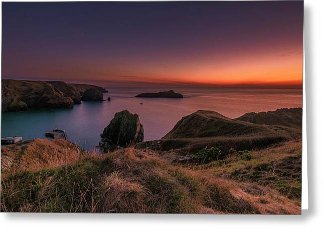 Mullion Cove - Sunset 2 Greeting Card
